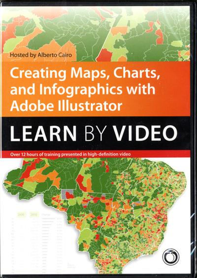 Peachpit - Creating Maps, Charts, and Infographics with Adobe Illustrator Learn by Video