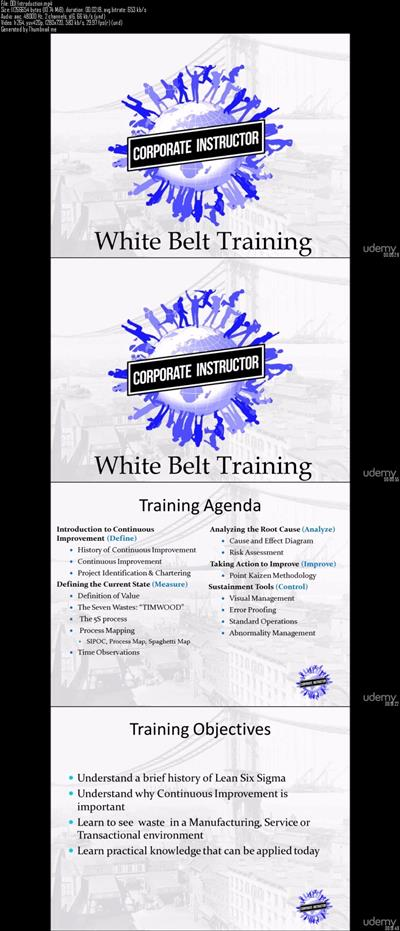 Udemy : Lean White Belt