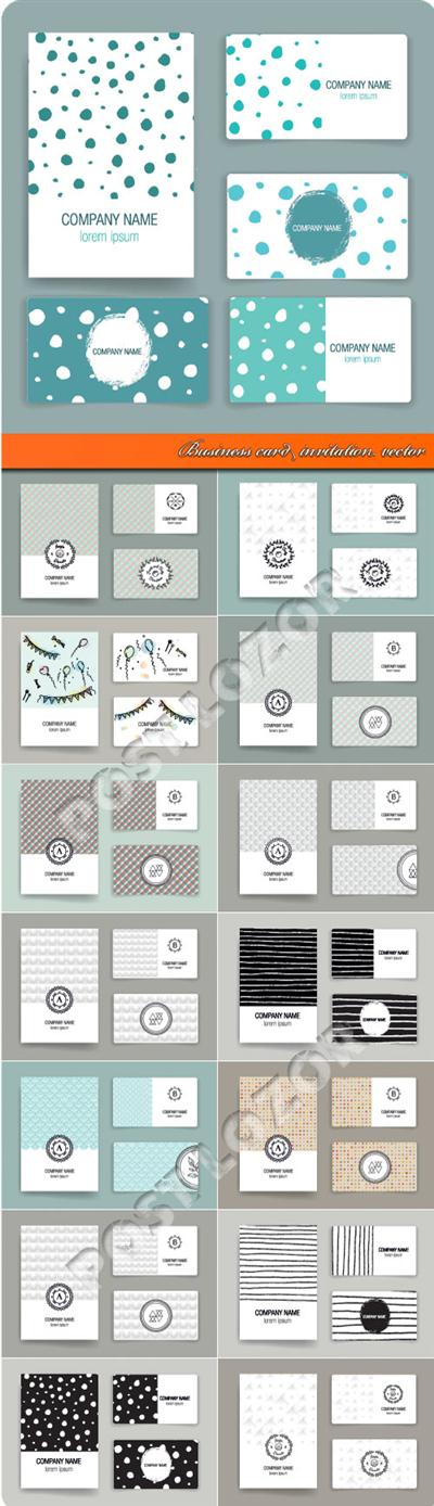 Business card invitation vector