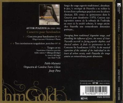 Astor Piazzolla - Concerto pour Bandoneon / 2014 Harmonia Mundi