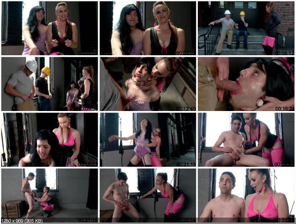 [DivineBitches.com / Kink.com] Bella Rossi and Jay Wimp (Pimped out, forced feminized and forced bi with EXTREME ball busting)... Oral sex for money, Blowjob builder, Cuckold.s