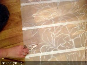 Ручная роспись деревянного пола. Идеи Be242ffc979848f56552089592c3e117