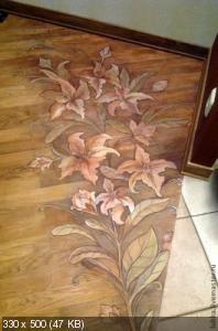 Ручная роспись деревянного пола. Идеи 0e3357d865df1a9d3c01bc6188975b24