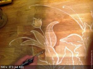Ручная роспись деревянного пола. Идеи A16284bd7ea726de676721cf8bf8474d